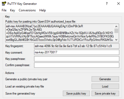 Using PuTTY with SSH Key Pair - CipherSpace Client Wiki